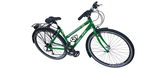 touring female hybrid bike