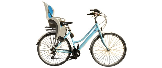 Female Bicycle With Child Seat Rear Mounted London