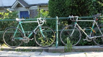 Cycle stop at Farningham